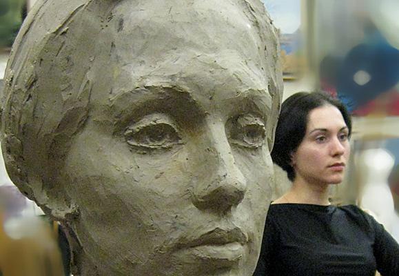 лепка портрета по живой модели фото 19